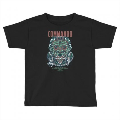 Commando Light Toddler T-shirt Designed By Daraart