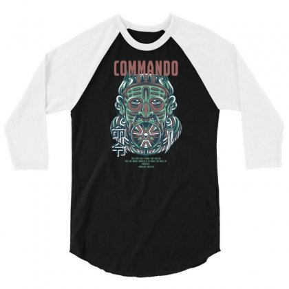 Commando Light 3/4 Sleeve Shirt Designed By Daraart