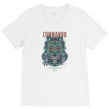 Commando Light V-neck Tee Designed By Daraart