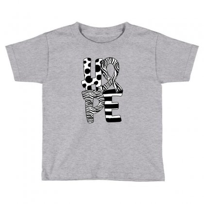 Hope Watercolor Carcinoid Cancer Toddler T-shirt Designed By Honeysuckle