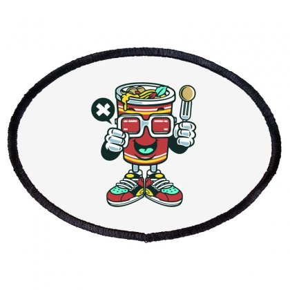 Cup Noodle Oval Patch Designed By Daraart