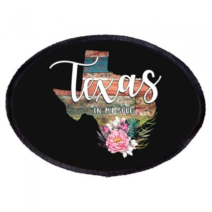 Texas In My Soul Oval Patch Designed By Honeysuckle