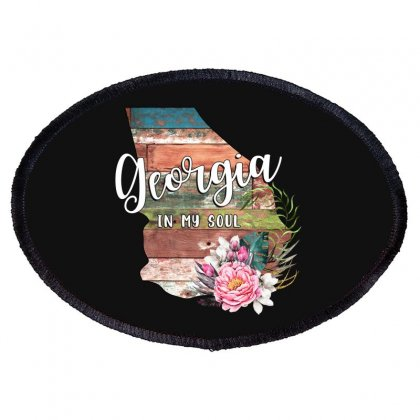 Georgia In My Soul Oval Patch Designed By Honeysuckle