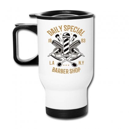 Daily Special Barber Shop Travel Mug Designed By Daraart