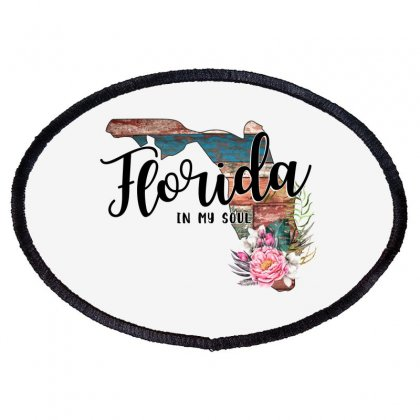 Florida In My Soul Oval Patch Designed By Honeysuckle