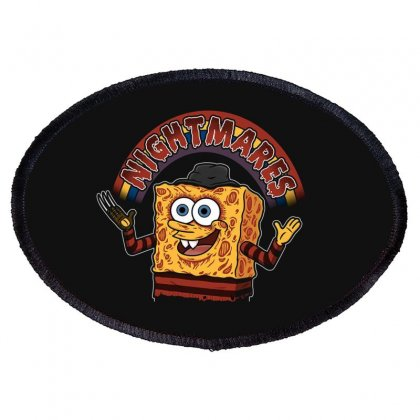Spong Bob Oval Patch Designed By Disgus_thing