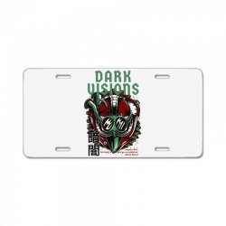dark visions light License Plate | Artistshot