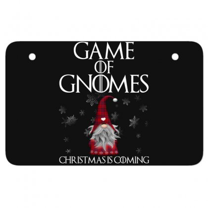 Game Of Gnomes Christmas Is Coming Atv License Plate Designed By Omer Acar