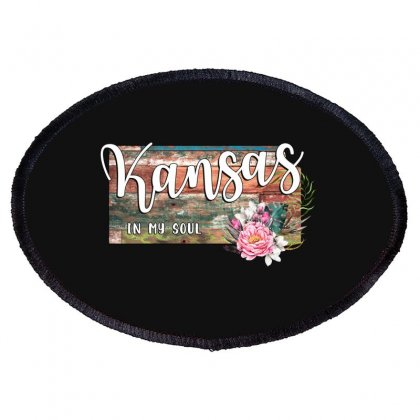 Kansas In My Soul Oval Patch Designed By Honeysuckle