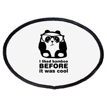 I Liked Bamboo Funny Oval Patch Designed By Erryshop