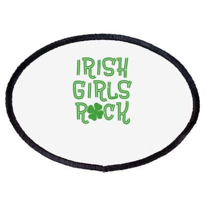 Irish Girls Rock Funny Oval Patch Designed By Erryshop