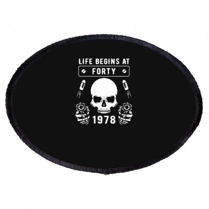 Life Begins At Forty 1978 The Birth Of Legends Oval Patch Designed By Erryshop