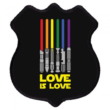 Lightsaber Rainbow Funny Shield Patch Designed By Erryshop