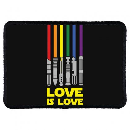 Lightsaber Rainbow Funny Rectangle Patch Designed By Erryshop