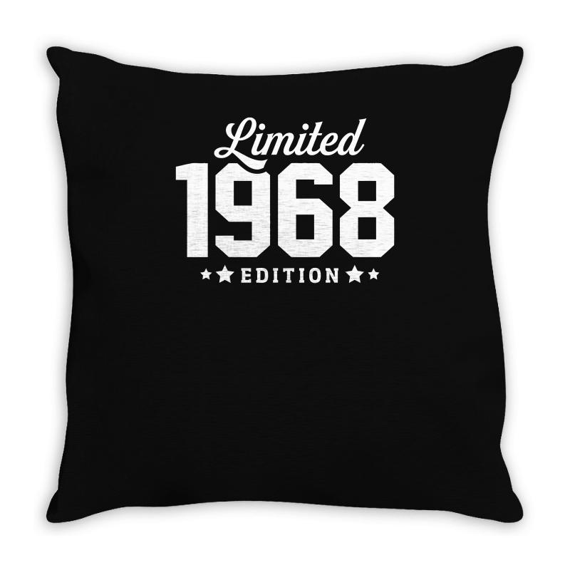 Limited Edition 1968 Funny Throw Pillow | Artistshot