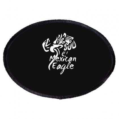 Mexican Eagle Funny Oval Patch Designed By Erryshop