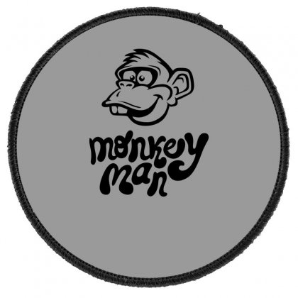 Monkey Man Funny Round Patch Designed By Erryshop