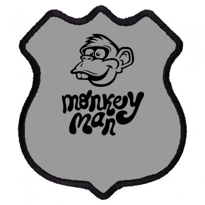 Monkey Man Funny Shield Patch Designed By Erryshop