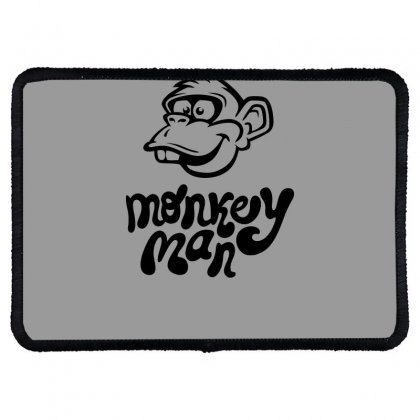 Monkey Man Funny Rectangle Patch Designed By Erryshop