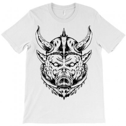 Wild Boar Viking T-shirt Designed By Deer&wolf_