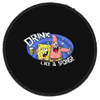 Sponge Round Patch Designed By Disgus_thing