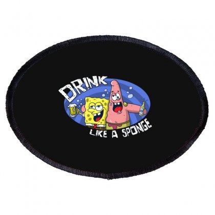 Sponge Oval Patch Designed By Disgus_thing