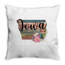 iowa in my soul Throw Pillow | Artistshot