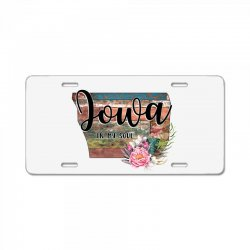 iowa in my soul License Plate | Artistshot