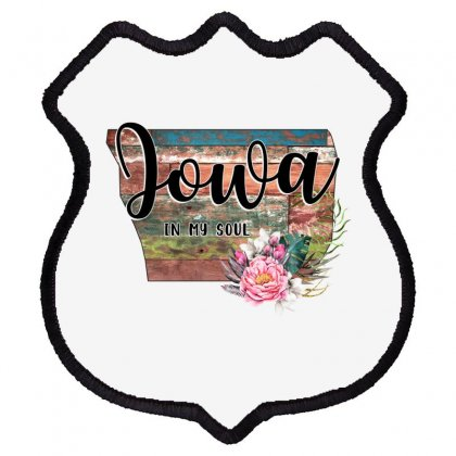 Iowa In My Soul Shield Patch Designed By Honeysuckle