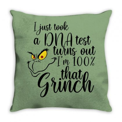 I'm 100% That Grinch For Light Throw Pillow Designed By Sengul