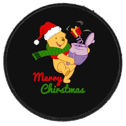 Merry Christmas Winnie Round Patch Designed By Hasret