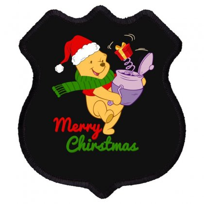 Merry Christmas Winnie Shield Patch Designed By Hasret