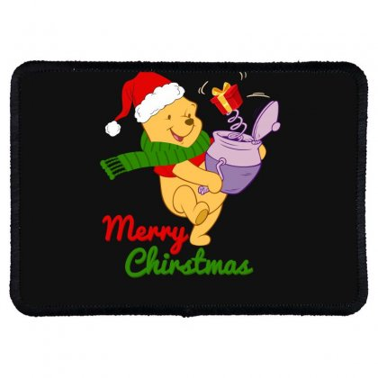 Merry Christmas Winnie Rectangle Patch Designed By Hasret
