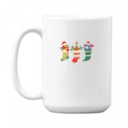 Christmas Winnie The Pooh Characters 15 Oz Coffe Mug Designed By Hasret