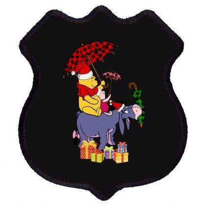 Winnie The Pooh Plaid Pattern Shield Patch Designed By Hasret