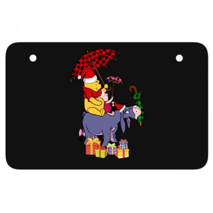 Winnie The Pooh Plaid Pattern Atv License Plate Designed By Hasret