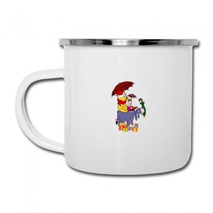 Winnie The Pooh Plaid Pattern Camper Cup Designed By Hasret