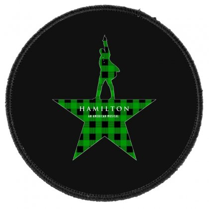 Hamilton Music Green Plaid For Dark Round Patch Designed By Hasret