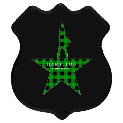 Hamilton Music Green Plaid For Dark Shield Patch Designed By Hasret