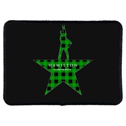 Hamilton Music Green Plaid For Dark Rectangle Patch Designed By Hasret