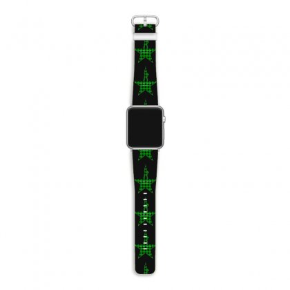 Hamilton Music Green Plaid For Dark Apple Watch Band Designed By Hasret