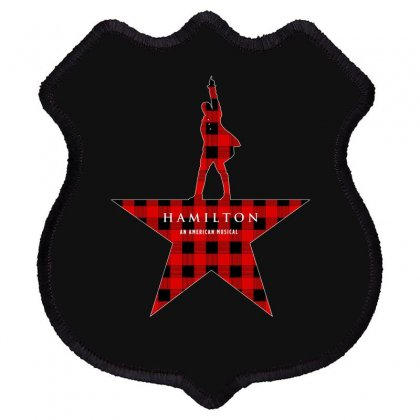 Hamilton Music Plaid Pattern For Dark Shield Patch Designed By Hasret