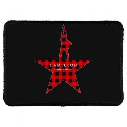 Hamilton Music Plaid Pattern For Dark Rectangle Patch Designed By Hasret