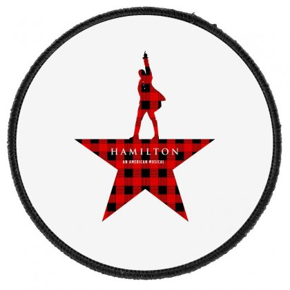 Hamilton Music Plaid Pattern For Light Round Patch Designed By Hasret