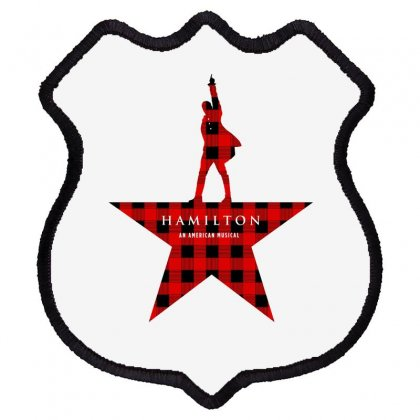 Hamilton Music Plaid Pattern For Light Shield Patch Designed By Hasret