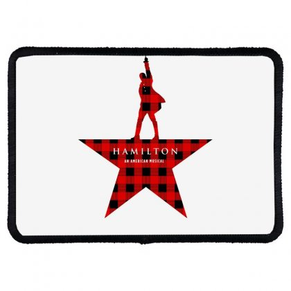 Hamilton Music Plaid Pattern For Light Rectangle Patch Designed By Hasret