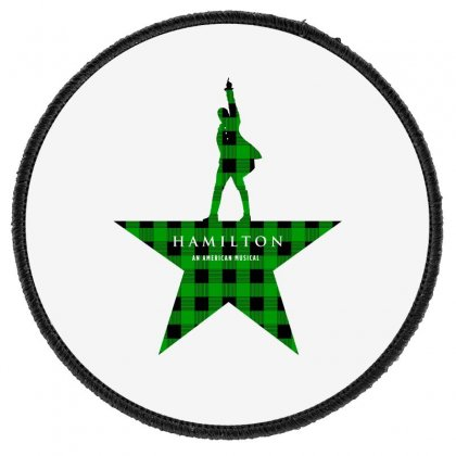 Hamilton Music Green Plaid For Light Round Patch Designed By Hasret