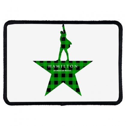 Hamilton Music Green Plaid For Light Rectangle Patch Designed By Hasret