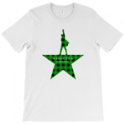 Hamilton Music Green Plaid For Light T-shirt Designed By Zeynepu