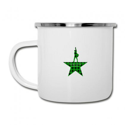 Hamilton Music Green Plaid For Light Camper Cup Designed By Hasret